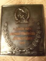 E12 the 1949 football cup referee of Rákos commemorative plaque rarity jákfalvy designer