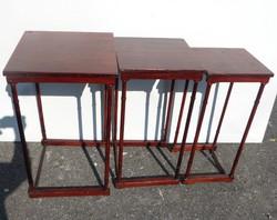 Art Nouveau side tables.