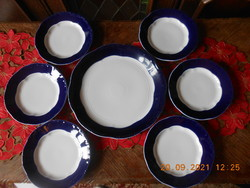 Zsolnay porcelain, pompadour glazed cake set