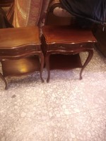 Baroque two bedside tables, small chest of drawers