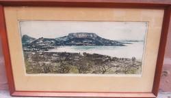 József Palicz: landscape of Lake Balaton