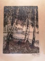 Béla Salgó 1931 etching