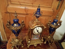Neo baroque fireplace clock set