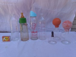 Retro chicco baby bottles and more - together