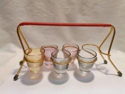 Asztali pohártartó színes üveg stampedlikkel