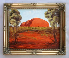 Painting of Henk Guth - Entitled: Ayers Rock