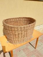 Retro cane basket for sale! Large storage basket for sale