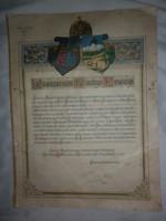 Beszterce naszód vármegye köszöntő levele ferenc ferdinánd trónörökösnek 1914
