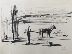 Miklós Borsos: on the waterfront 1958