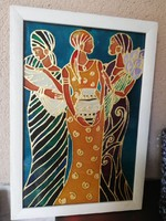 African glass painting, glass picture