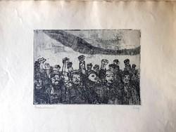 Feledy Gyula (1928-2010) : Proletárdiktatúrát, Kommunista rézkarc