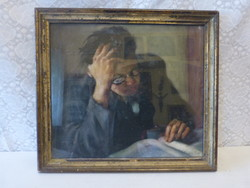 Amos sign / reader male pastel.