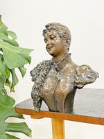 Antique bronze female bust statue - Carl Kauba