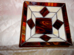 Tiffany technique stained glass unique decorative bowl