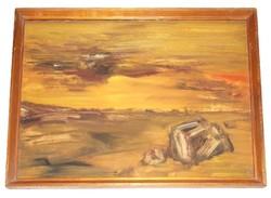 Peter Black's 1977 painting Stones