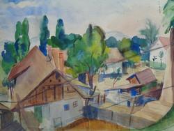 Watercolor by Béla Ducsay (1893-1967)