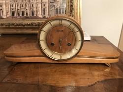 Hermle fireplace clock, art deco table clock