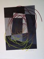 Painting, Gyarmathy Tihamér, composition, 1982