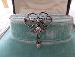 Art Nouveau glasses collie / necklace / necklace