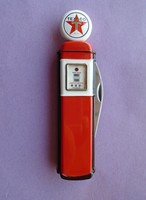 Flawless gas station pump pocket knife knife & carrying case