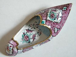 Fire enamel ornate little turkish slippers