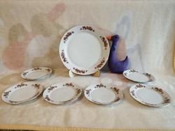 21181A2 Alföldi porcelán süteményes készlet