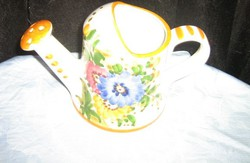 Antique vintage style porcelain watering can