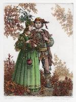 Artner Margit - Az idill 18 x 13.5 cm rézkarc