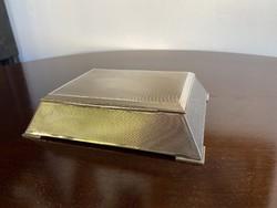 Musical silver art deco card box