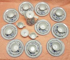10 személyes Seltmann Weiden Bavaria porcelán reggeliző szett, hibátlan, 34 darabos!