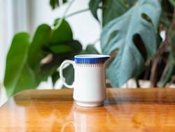 Alföldi retro porcelán tejszínes kiöntő, aranyozott utasellátó mintával