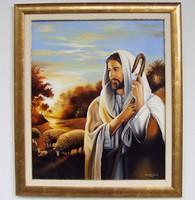 A Jó pásztor 60x50cm + keret olaj - vászon festmény