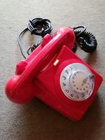 Red dial telephone, retro