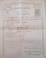 Ritkaság! Marhalevél / Pest Vármegye! I. Világháború idejéről! 1918.04.10.