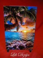 Palm tree a4 size tile image