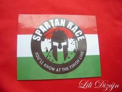 Spartan race fridge magnet