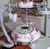 Antique shaped but new working usable beautiful rosy phone