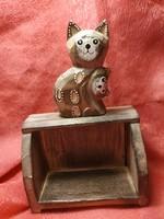 Wooden kitten cabinet, shelf