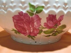 Nagy méretű régi rózsás fali tál