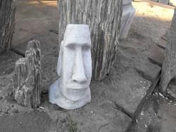On sale ! Moai Easter Island Head 1pc 40cm Minimal Rock Garden Antifreeze Artificial Stone Sculpture