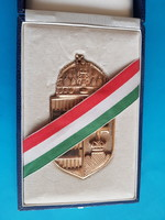 Gilded Hungarian coat of arms
