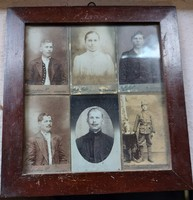 6 studio photos from the 1910s in their original frame