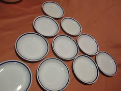 10 db Zsolnay kék csíkos salátás tányérka, kis tányér