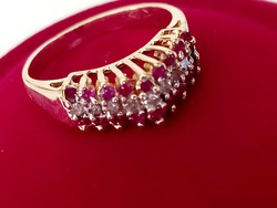 Gold ring (brill and ruby)