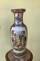 Giant floor vase, Chinese motif 62 cm, very showy