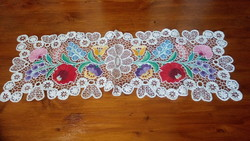 Kalocsa embroidered tablecloth 67 * 23 cm