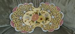 Antique zsolnay openwork fruit platter serving platter
