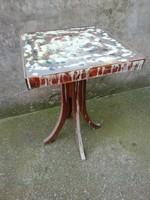 Retro wooden small table, artistic design