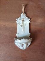 Porcelain holy water holder