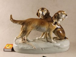 Royal dux hunting dog pair 838